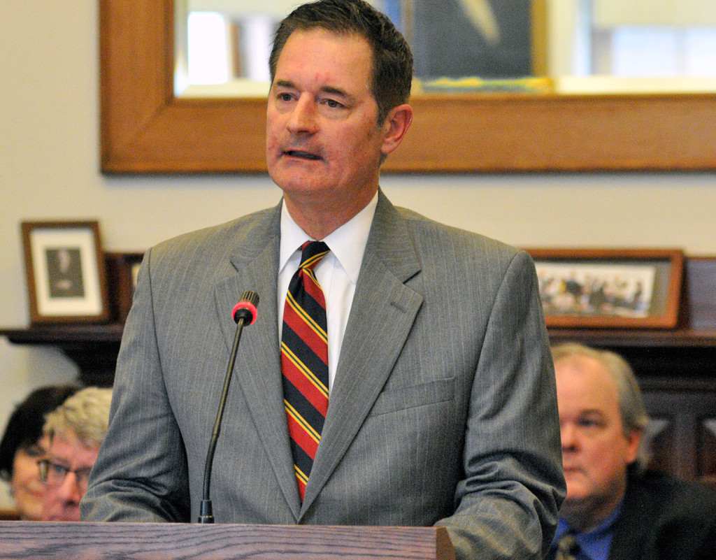 """District Court Judge Jeffrey Moskowitz testifies Thursday at his renomination hearing before the legislature's Judiciary Committee. """"I make my fair share of mistakes"""" he told the committee. """"Some of the mistakes are minor, and some of them not."""""""