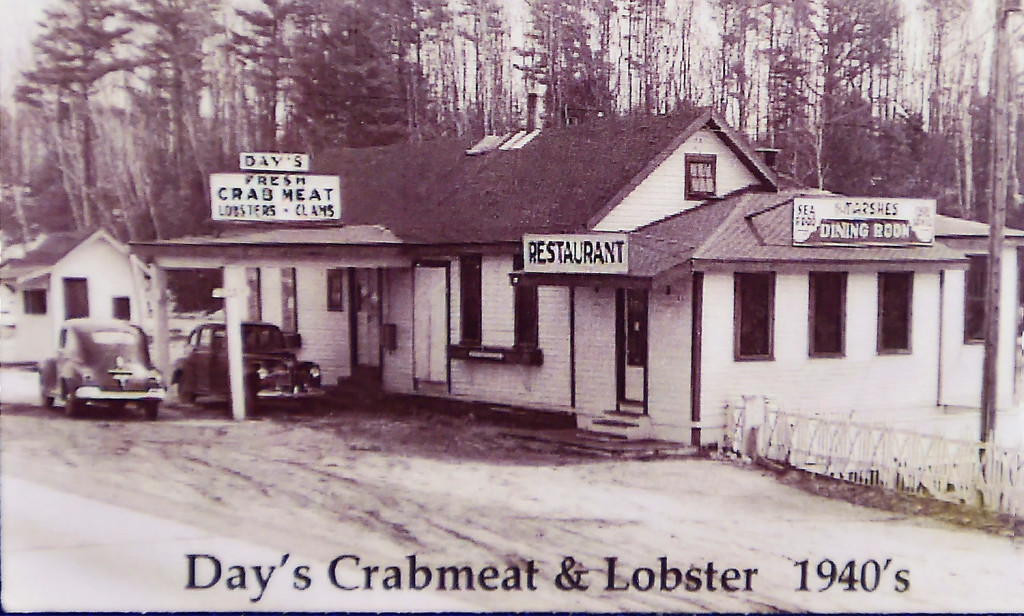 Day's Crabmeat & Lobster is shown in a photo from the 1940s.