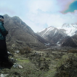 This picture of Dawn Habash was taken on April 24, the day before the Nepal earthquake, by an Italian woman who hiked with the now-missing Augusta yoga instructor but split with her before the quake. Friends and relatives are hoping to hear from Habash, who has not been in contact with them since the April 25 earthquake that killed thousands.