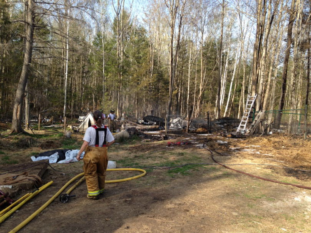 Fire destroyed a barn on Long Acres Road in Mount Vernon Thursday afternoon, killing eight goats.