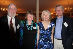 Medical director Russ Dejong, committee member Sara Hayes and senior vice president Evelyn Kieltyka and her husband, Bill.