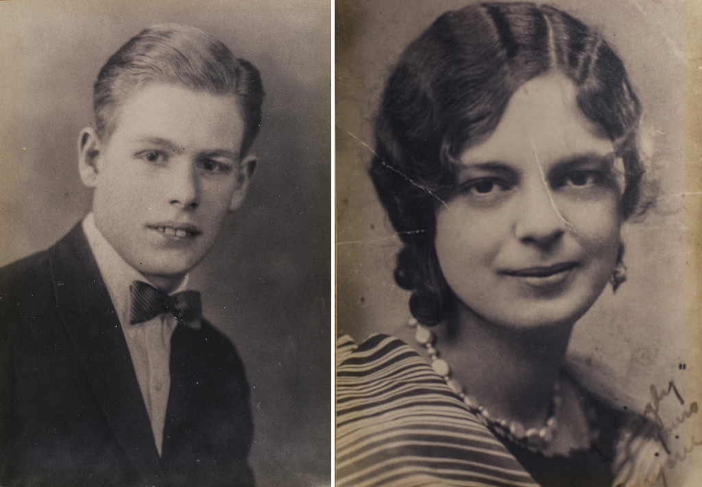"Charles Edward ""Bob"" Hurley and Marjorie Vivian Demers, Kelley Bouchard's grandparents, who spent their honeymoon at the Eastland Hotel in 1929. They couldn't afford a wedding portrait -- these are their graduation photos from Lewiston High School in 1926 and 1929, respectively.(Photo by Whitney Hayward/Staff Photographer)"