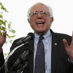 Sen. Bernie Sanders kicked off his presidential campaign in Washington in April with a classic underdog pitch about economic inequality and class warfare.