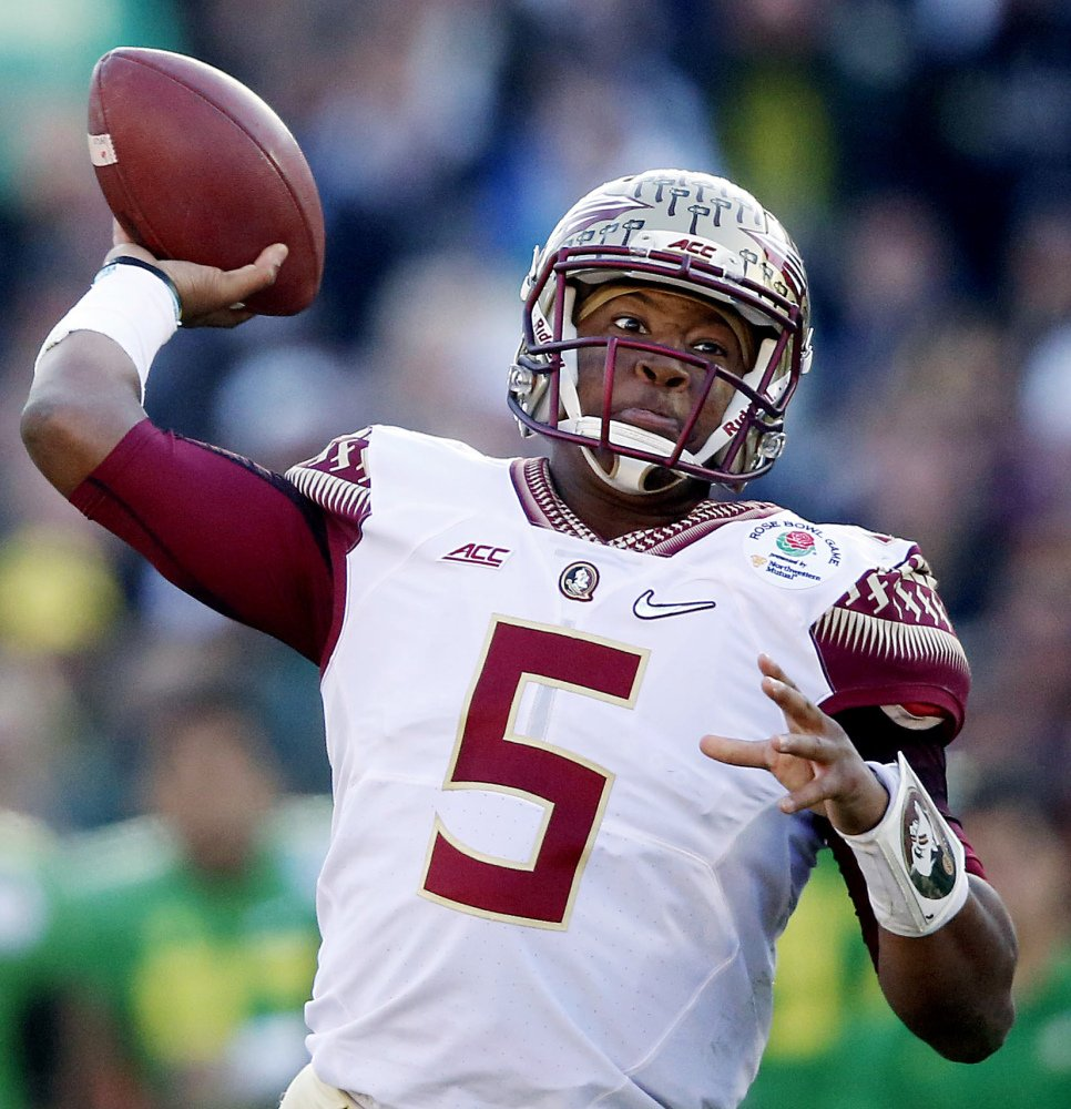 Jameis Winston says he's looking forward to developing into a great man for Tampa Bay.