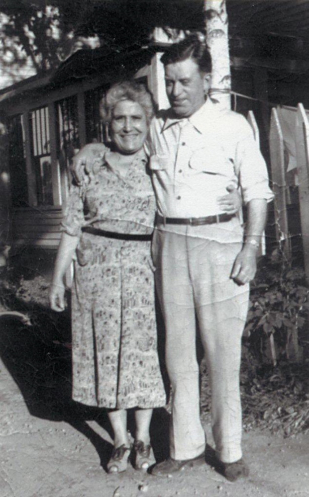 George Mitchell's parents, from the author's collection.