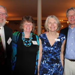 Medical director Russ Bejong, committee member Sara Hayes and senior vice president Evelyn Kieltyka and her husband, Bill.