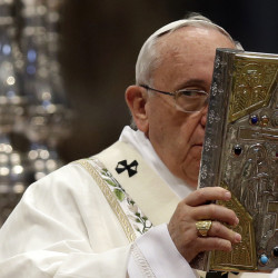 Pope Francis celebrates Mass in St. Peter's Basilica at the Vatican. When he visits the United States, he can expect rock-star adulation. But his positions on hot-button issues such as the death penalty and climate change could quickly set the stage for conflict.