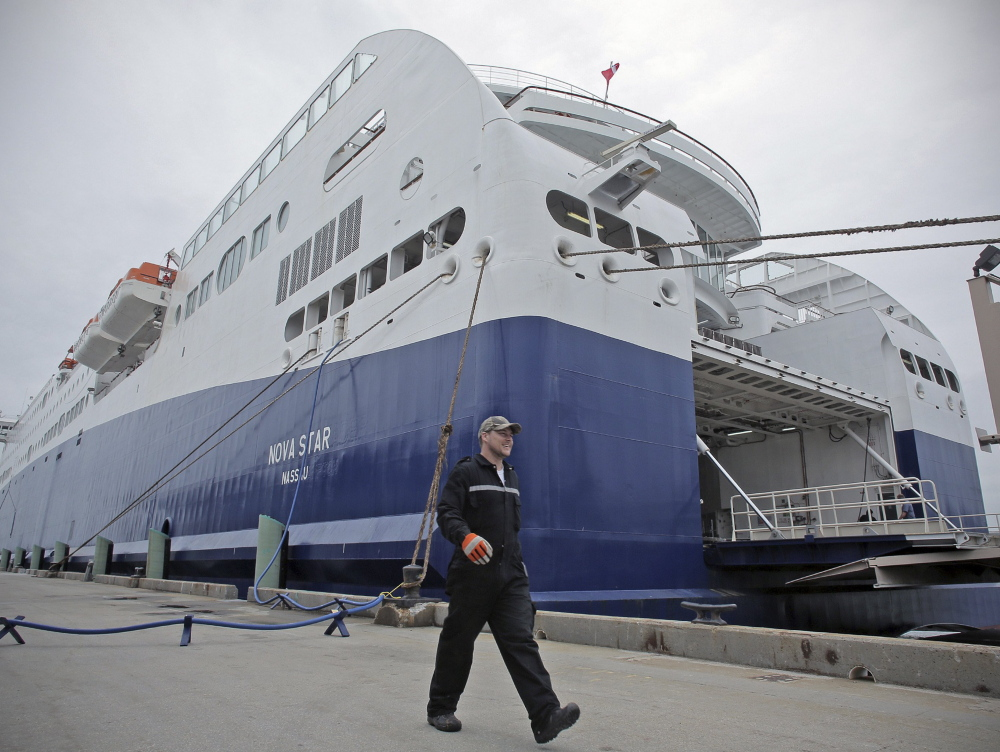 The Nova Star ferry begins its summer schedule June 1. Nova Scotians are upset that Maine has not helped to subsidize the service. The state did allocate $640,000 to improve the Ocean Gateway Terminal.