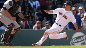 Blake Swihart showed his athleticism Saturday when he scored from first on a double off the wall in left at Fenway Park. How many catchers can do that?