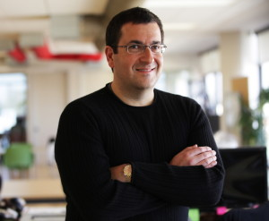 David Goldberg, CEO of Survey Monkey, poses at company headquarters in Palo Alto, Calif., in 2013. Goldberg, the husband of Facebook executive Sheryl Sandberg, died Friday while exercising. Jim Wilson/The New York Times via AP
