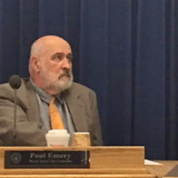 Westbrook City Council President Brendan Rielly, right, stripped Councilor Paul Emery, left, of his chairmanship of the council's Committee of the Whole on Monday in response to Emery's public remarks last week about Gov. Paul LePage.