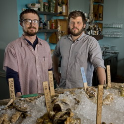 Mike Wiley and Andrew Taylor, chefs and co-owners of Hugo's, Eventide Oyster Co., and The Honey Paw in Portland, are nominated as a duo for Best Chef: Northeast