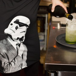 Vader-Ade beverages are prepared at the May the Fourth Be With You dinner at Piccolo in Portland.