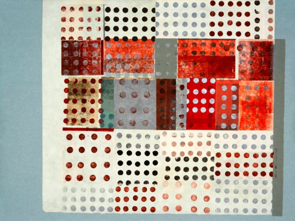 "Henry Wolyniec, ""HW13.33,"" paper collage and monotype."