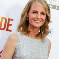 """Helen Hunt arrives at the L.A.premiere of """"Ride,"""" a movie she wrote and directed, at The Arclight Hollywood Theater."""