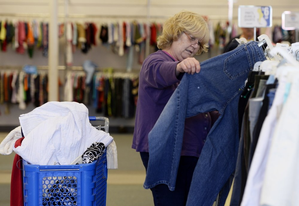 Sandra Smith of Portland shops at the Goodwill store in Portland on Friday. Shawn Patrick Ouellette/Staff Photographer