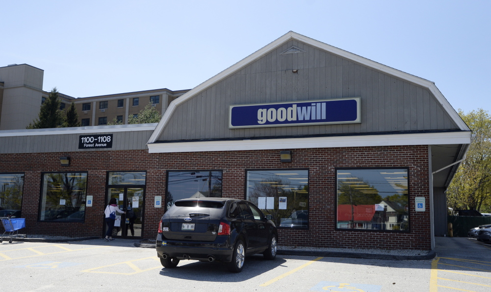 The Goodwill store on Forest Avenue in Portland will be torn down to accommodate an $18 million expansion of the adjacent Park Danforth senior housing complex.  Shawn Patrick Ouellette/Staff Photographer