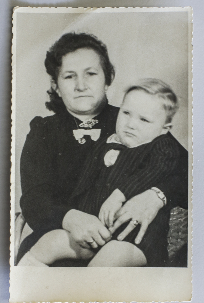 """Paul Schmitz as a baby with his German mother. Schmitz, son of a United States WWII soldier, was mistreated as a kid because he was a """"Yank."""""""