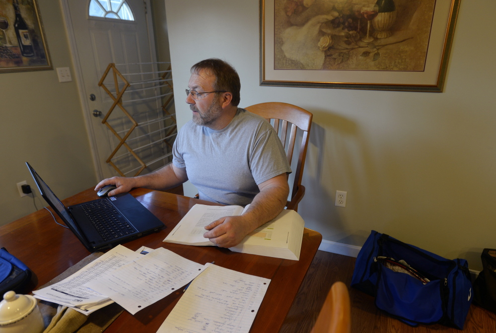 Scott Berry of Manchester takes courses through the University of Maine at Augusta to get his bachelor's degree. He earned his associate degree from the University of Southern Maine in 1983.