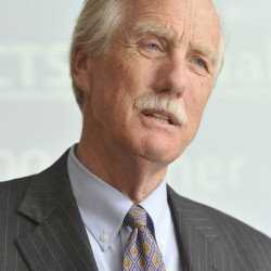 Sen. Angus King Secondary lines can go here