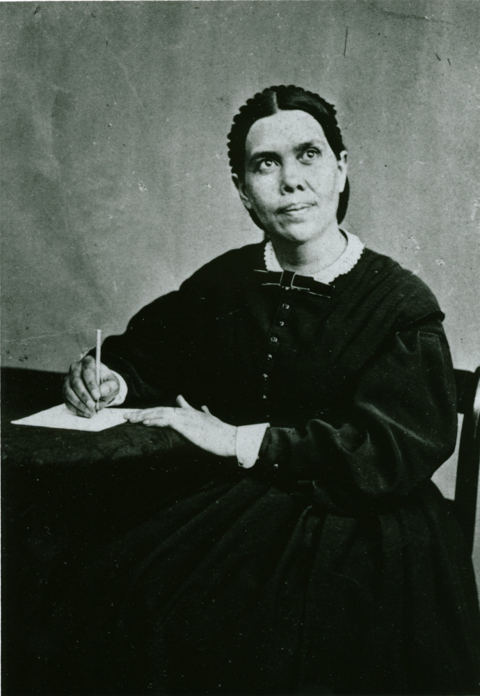 Ellen G. White, photographed in 1864, was a founder of the Seventh-day Adventist Church.
