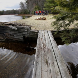 A plan in Cumberland and North Yarmouth to conserve 215 acres at Knight's Pond and Blueberry Hill, above, is one of dozens of conservation initiatives in jeopardy because of the uncertainty over the Land for Maine's Future Program.