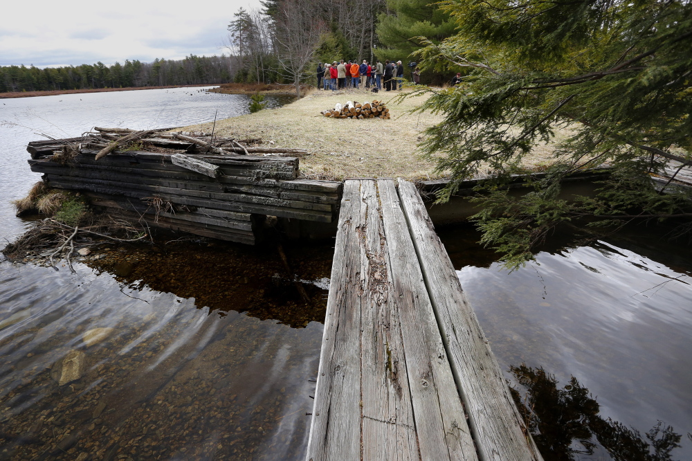 The conservation of Knight's Pond and Blueberry Hill, shown here, had been one of dozens of initiatives that were in jeopardy because of uncertainty over the Land for Maine's Future program.