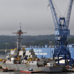 The House passed a bill Friday that would provide $611.9 billion for spending on defense, such as ships made by Bath Iron Works.