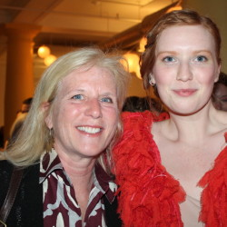 Connie Wilsterman of Falmouth, Mass., with her daughter Greta Wilsterman, a ceramics major at MECA and one of the fashion show models.