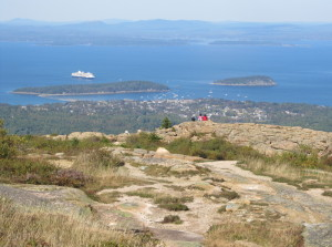 Maine's wild beauty is never more obvious than from the summit of Cadillac Mountain with the panoramic view of Frenchman Bay below. Cadillac is the East Coast's tallest mountain. At 1,530 feet, it offers breath-taking views from its pink granite summit. As the Encyclopedia Britannica notes, if you want to find a higher peak on the Atlantic coast, you'd have to trek all the way down to Rio de Janeiro.