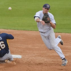 Shortstop Sam Dexter has established himself as one of the top players ever at USM, with an array of eye-catching offensive stats. He's eligible for baseball's amateur draft in June, but has indicated he'll return for his senior season.