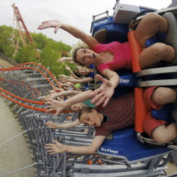 A few older roller coasters – such as the Wicked Cyclone, pictured, in Agawam, Mass. – are reopening this year after undergoing extensive rehabs. Six Flags New England transformed a traditional wooden coaster formerly known as the Cyclone into the Wicked Cyclone, a steel hybrid that's faster and steeper and twists riders through three inversions.