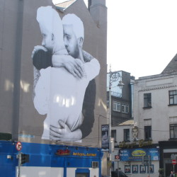 Homosexual acts were illegal in Ireland as recently as 1993, but attitudes have changed, as shown by this mural in Dublin.