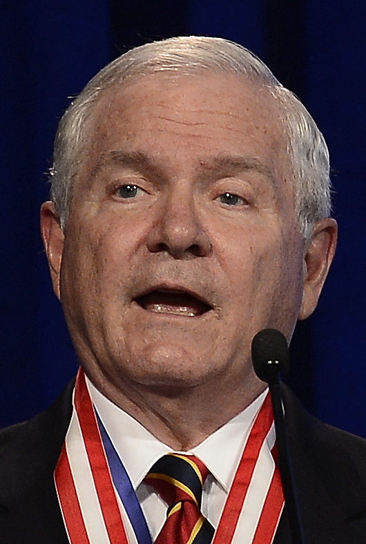 Former Defense Secretary Robert Gates addresses the Boy Scouts of America's annual meeting in Nashville, Tenn., last year after being selected as the organization's new president. On Thursday Gates said that the organization's longstanding ban on participation by openly gay adults is no longer sustainable, and called for change in order to avert potentially destructive legal battles.