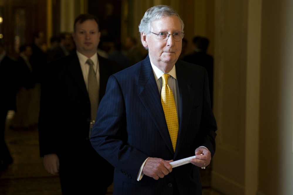 Senate Majority Leader Sen. Mitch McConnell of Kentucky said Friday it is possible for the Senate to wrap up its business before the Memorial Day holiday.