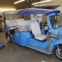 Denver-based eTuk USA hopes its eco-friendly tuk-tuk, a far cry from the loud, pollution-spewing versions common in Asia and South America, will become the next hip mode of transportation for urban dwellers and tourists in the U.S.