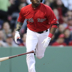 Rusney Castillo made his season debut for the Boston Red Sox on Friday after getting called up from Triple-A Pawtucket, but his arrival didn't help. Castillo was 1 for 4 at the plate and dropped a fly ball during a nine-run fifth inning that carried the Angels to a 12-5 win.
