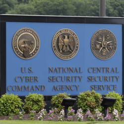 In this June 6, 2013 file photo, a sign stands outside the National Security Agency (NSA) campus in Fort Meade, Md.