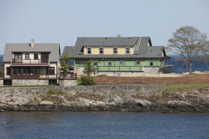 Jeb Bush's vacation home is under construction Sunday on Walker's Point in Kennebunkport. Joel Page/Staff Photographer