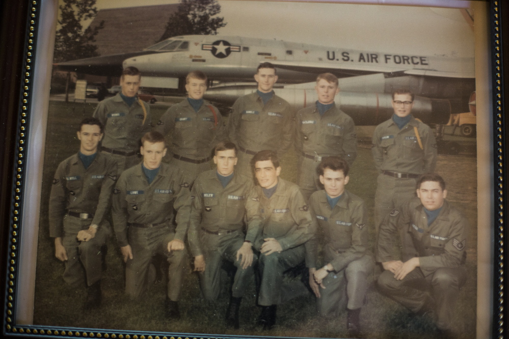 In picture of a 1960s photo from Chanute Air Force Base, Glen Lowe is second from left in the front row.