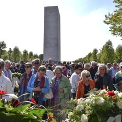 Thousands gather for the Memorial Day ceremony at the Netherlands American Cemetery on Sunday in Margraten, where more than 8,000 U.S. servicemen killed in World War II are buried.