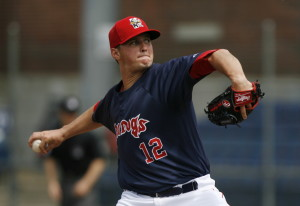 Portland's Mike Augliera pitched seven shutout innings as the Sea Dogs beat the Reading Fightin Phils 8-2 on Monday at Hadlock Field.