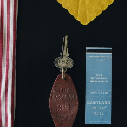 A room key and a matchbook from the Eastland Hotel are among the items in a historic collection that debuts this week.