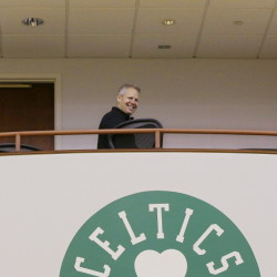 Danny Ainge, the Celtics' president of basketball operations, has reason to smile with his team holding four picks in next month's NBA draft. The Celtics' late surge to the playoffs took them out of contention for a lottery pick, but they could still trade into one of those positions.