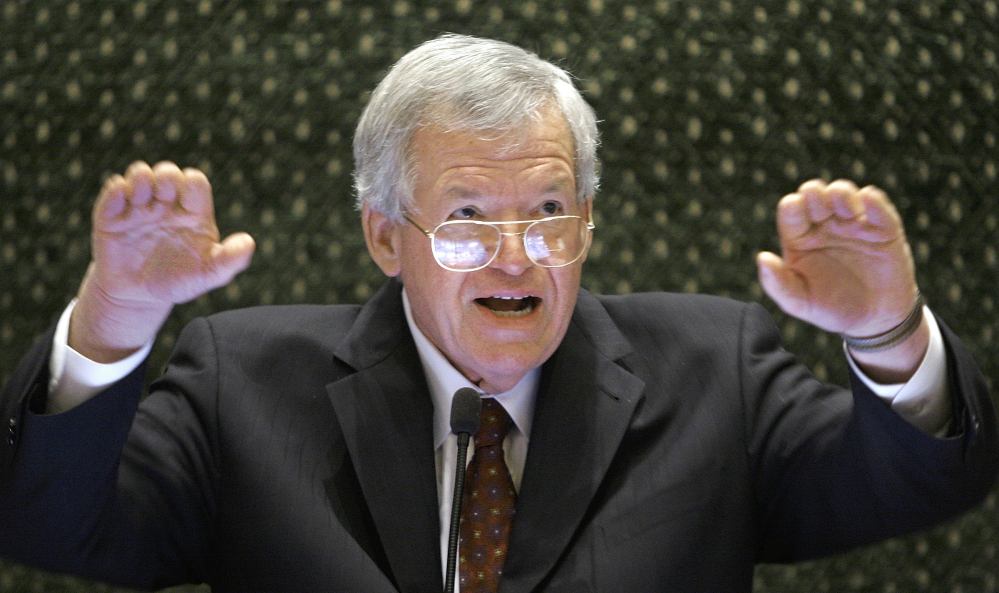Federal prosecutors indicted former U.S. House Speaker Dennis Hastert on bank-related charges Thursday in Chicago.