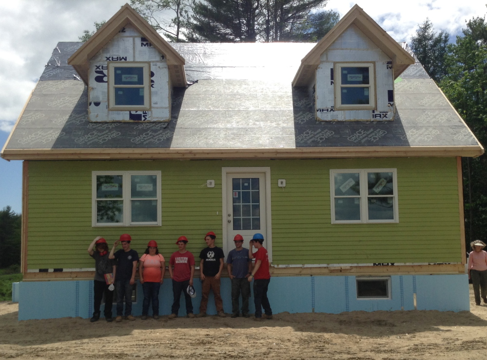 This four-bedroom house was built by dozens of Portland-area high school students over the course of four academic years. It left Portland in pieces on Friday for its new home in Durham.