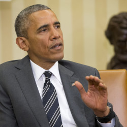 President Barack Obama speaks in the Oval Office of the White House in Washington on May 26.