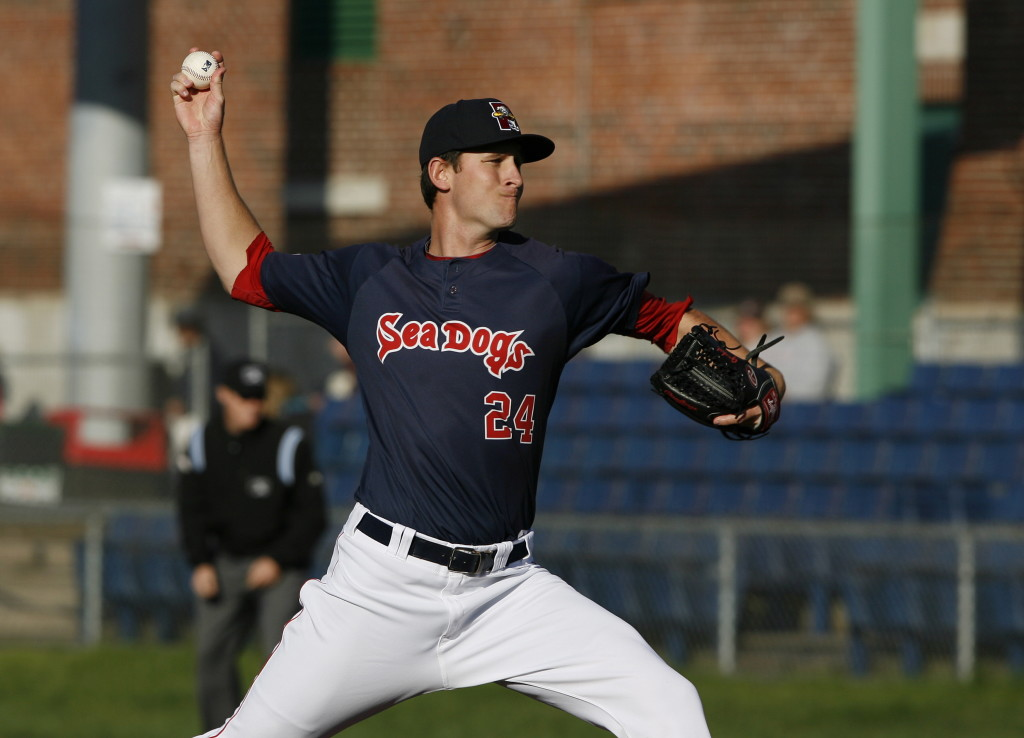 Joe Gunkel, who also can relieve, started a Double-A game for the first time and came out a winner for the Sea Dogs. Gunkel bore down with runners on base and allowed one run in five innings of a 4-1 victory against Altoona at Hadlock Field. Joel Page/Staff Photographer