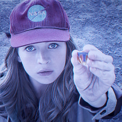 "Britt Robertson, as Casey, in a scene from Disney's ""Tomorrowland."" Film Frame/Disney via AP"