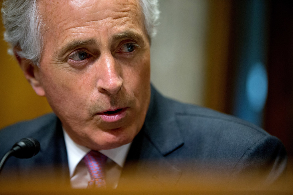 "Sen. Bob Corker, R-Tenn., chairman of the Foreign Relations Committee, said of the vote on the bill Thursday: ""No bill. No review."""